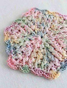 Free Crochet Pattern Vintage pastels Coaster #92 at Best Free Crochet