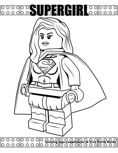 Coloring Page Supergirl True North Bricks Lego Coloring Pages Captain America Coloring Pages Lego Print