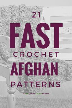Did you know that you can crochet afghans quickly? Believe it or not, yes, there are crochet afghan patterns work up quite quickly. Perfect for last minute gifts!