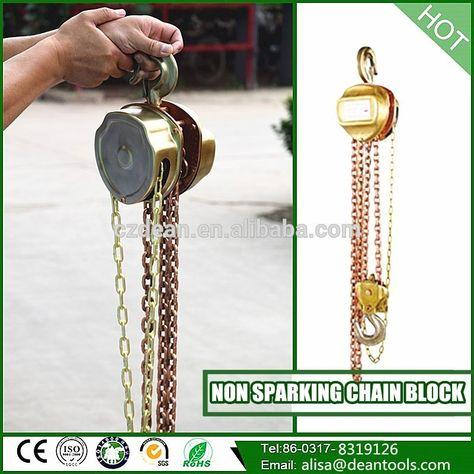 Non Sparking Safety Manual Chain Hoist Block Safety Lifting - safety manual