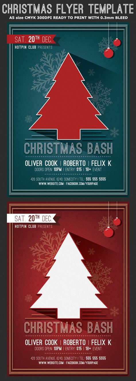 Classy Christmas Flyer Template by Hotpin on @creativemarket - christmas flyer template