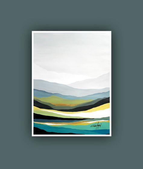 Printable Abstract Art, Instant Digital Download Art, Modern art prints, Contemporary Art, Mountain painting, Landscape Painting, Fine print