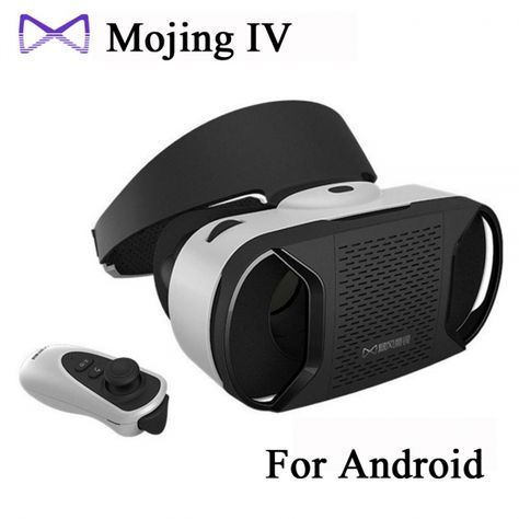 Baofeng Mojing IV Virtual Reality Headset 3D Glasses with Remote Controller for Android Smartphone White & Black