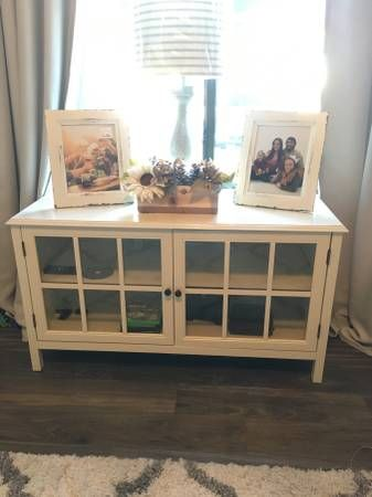 Windham Tv Stand White 44 Threshold Furniture By Owner Sale Furniture Tv Stand Home Decor