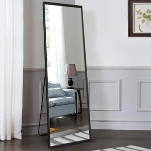 Neutype Simple Nature Solid Wood Full Length Mirror Dressing Floor
