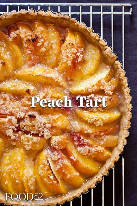 Peach Tart Recipe on So many peaches, so little time. Best Dessert Recipes, Fun Desserts, Delicious Desserts, Cake Recipes, Sweet Pie, Sweet Tarts, Peach Tart Recipes, Food Porn, Food 52