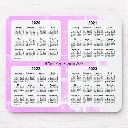 2020 2023 Violet 4 Year Calendar By Janz Vendredi Mouse Pad