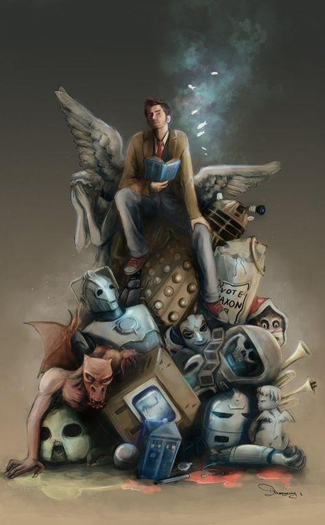 Tenth Doctor, David Tennant, Doctor Who Décimo Doctor, Serie Doctor, Doctor Who Art, Eleventh Doctor, Doctor Who Drawings, Watch Doctor, Doctor Humor, Fanart, Sherlock