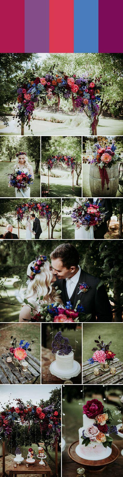 Winter peony + amethyst + peony + lapis + orchid | Images by Black Bird Tale #purplewedding #weddinginspiration #wedding #violetwedding #colorpalette #weddingcolorpalette #weddingplanning #weddingidea #weddingdecor #weddingceremony #weddingreception #bride #groom #cake