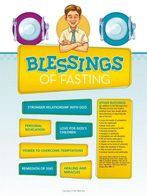 Latter-day Saints fast (go without food or drink for two meals and donate the money to feed others) on the first Sunday of each month. Learn about some of the blessings that come from fasting.