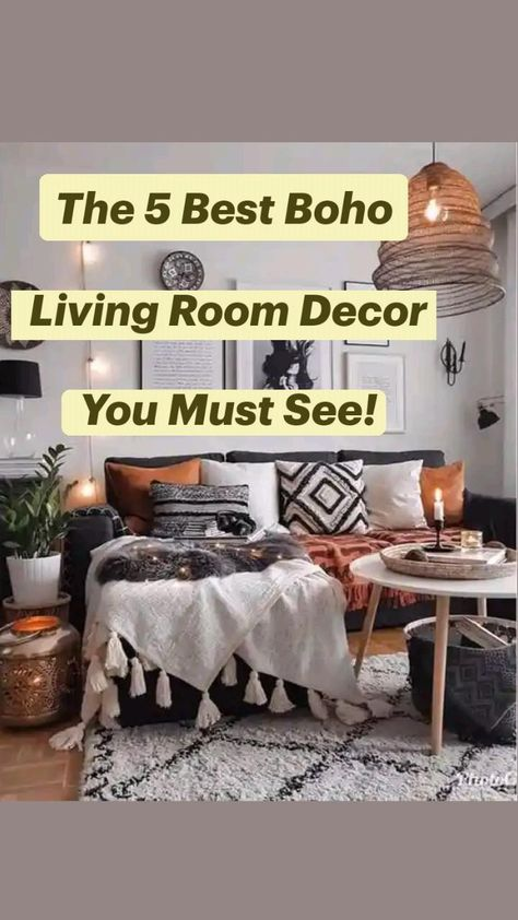 The 5 Best Boho Living Room Decor You Must See!