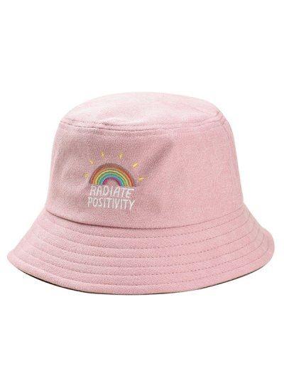 0194c76ff35a Rainbow Embroidery Corduroy Fisherman Hat en 2019 | Vestuario ...