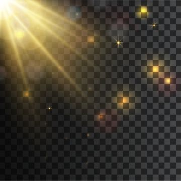 Sun Ray Light Effects With Yellow Light Glowing On Transparent Background Spotlight Clipart Sun Icons Transparent Icons Png And Vector With Transparent Backg Light Background Images Transparent Background Light Icon