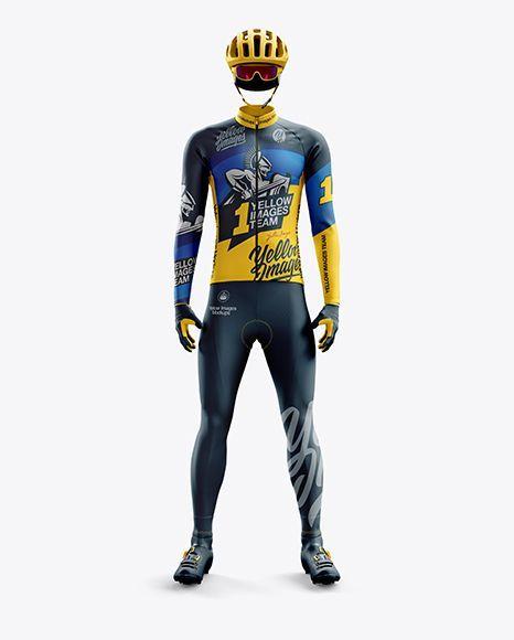 Download Men S Full Cycling Thermal Kit Mockup Front View Clothing Mockup Design Mockup Free Mockup
