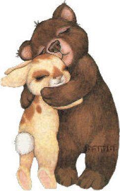 Nothing beats a hug between friends