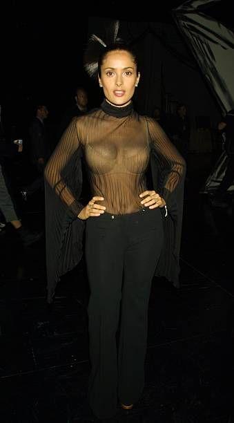 Salma Hayek during The 2000 My Music Awards at Shrine Auditorium in Los Angeles California United States
