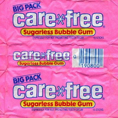 Care*Free Sugarless Gum Brand: Care*Free Sugarless Gum, Hershey's What Made It Great: It was long-lasting. Care*Free Sugarless gum came on the scene in flat sticks rivaling Trident. Retro Candy, Vintage Candy, 1980s Candy, Gum Brands, Retro Recipes, Sanha, Photo Wall Collage, My Childhood Memories, 90s Childhood