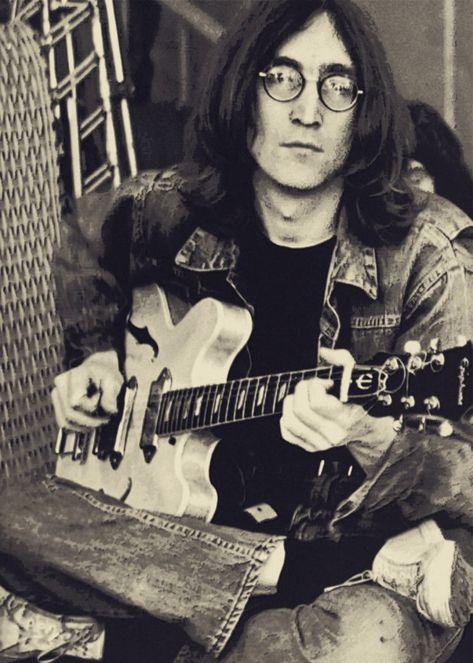 pinkfled: John Lennon at the Rock and Roll Circus; December 1968 pinkfled: John Lennon at the Rock and Roll Circus; Yoko Ono, Ringo Starr, Paul Mccartney, Les Beatles, John Lennon Beatles, Jhon Lennon, John Lennon Guitar, Beatles Art, Beatles Photos