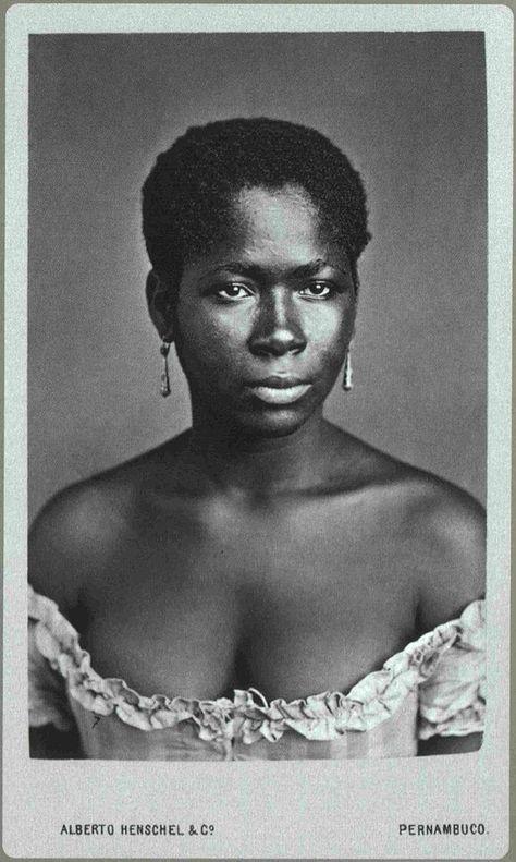 Black Pearl | People of the African Diaspora | 1870 Unidentified Afro-Brazilian Woman. Photography by Alberto Henschel Pernambuco
