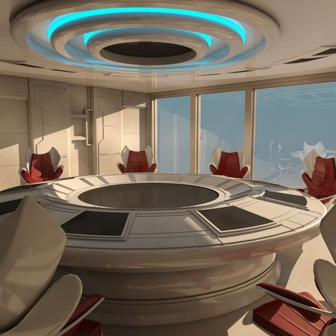 futuristic hotel with led walls Spaceship Interior, Futuristic Interior, Spaceship Design, Futuristic Design, Futuristic Architecture, Architecture Design, Hotel Meeting, Meeting Rooms, Character Home