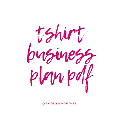 T SHIRT BUSINESS PLAN PDF    (How to start your own T-shirt business)