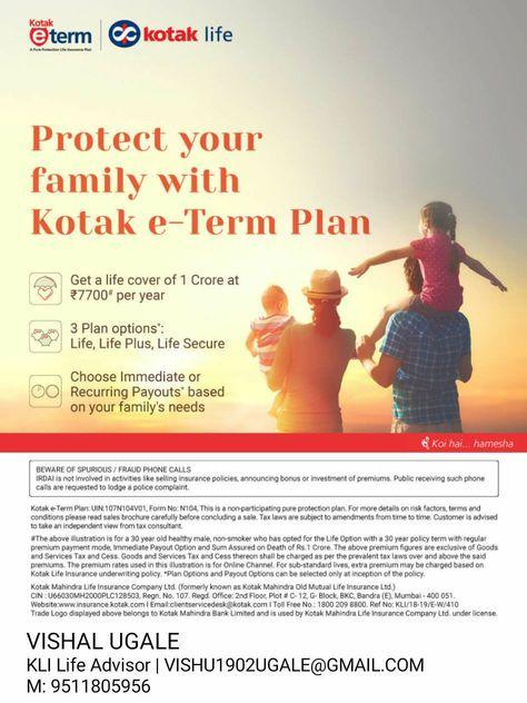 Pin By Vishal Ugale On Kotak Life Insurance Advisor Life Cover