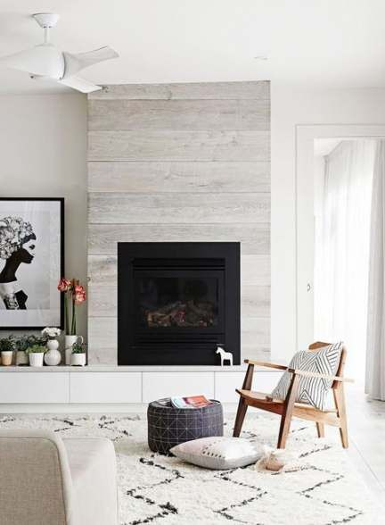 Living Room Modern Open Fireplaces 52