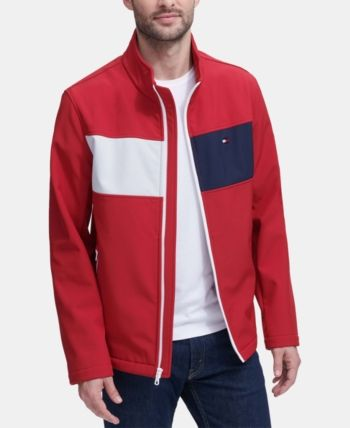 Tommy Hilfiger Men's Soft Shell Jacket Red XL in 2019