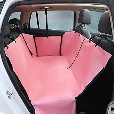 Amazon Com Vedem Waterproof Car Pet Back Seat Protector Zipper Car Dog Travel Seat Cover Pink Pet Suppli Dog Car Seats Dog Car Seat Cover Dog Seat Covers