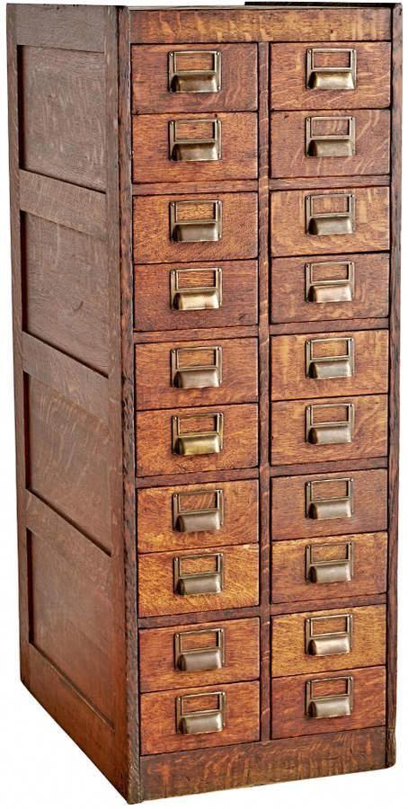 Cassettiera Ufficio D Epoca.Rejuvenation Tall Globe Filing Cabinet In Quartersawn Oak