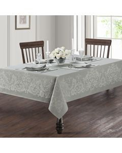 Waterford Chandler Tablecloth 70 X 126 White Table Linens