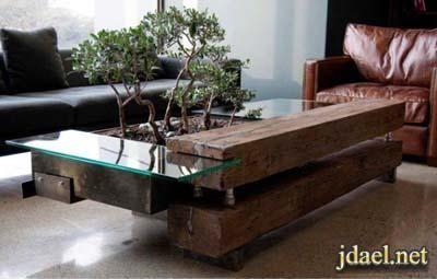 طاولات غرف معيشه من الخشب والجلد تصاميم عصريه Reclaimed Coffee Table Coffee Table Cool Coffee Tables