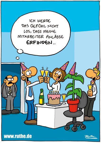 Buro Mitarbeiter Angestellte Chef Geburtstagsfeier Party