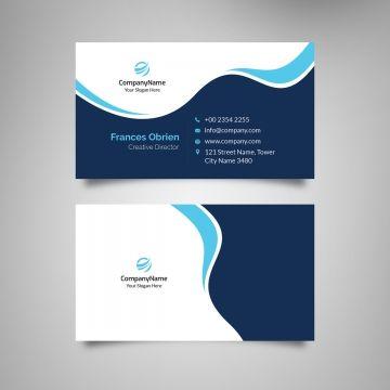 Blue Waves Business Card Medical Business Card Luxury Business Cards Business Card Psd