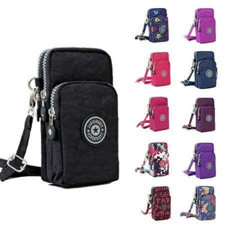 Cross-body Mobile Phone Shoulder Bag Pouch Case Belt Handbag Purse Wallet UK