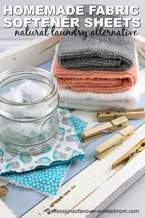 Homemade Fabric Softener Sheets With Essential Oils Fabric