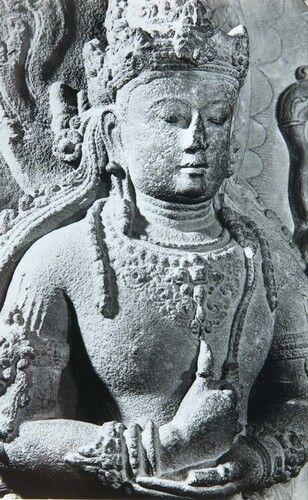 Patung Batu Dewa Siwa Singhasari 1950 1970 13 8 X 9 Cm 5 7 16 X 3 9 16in Stenen Indonesie