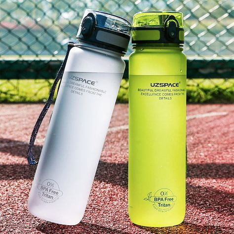 Explosion Sports Water Bottles 500ML 1L Protein Shaker Outdoor Travel Portable
