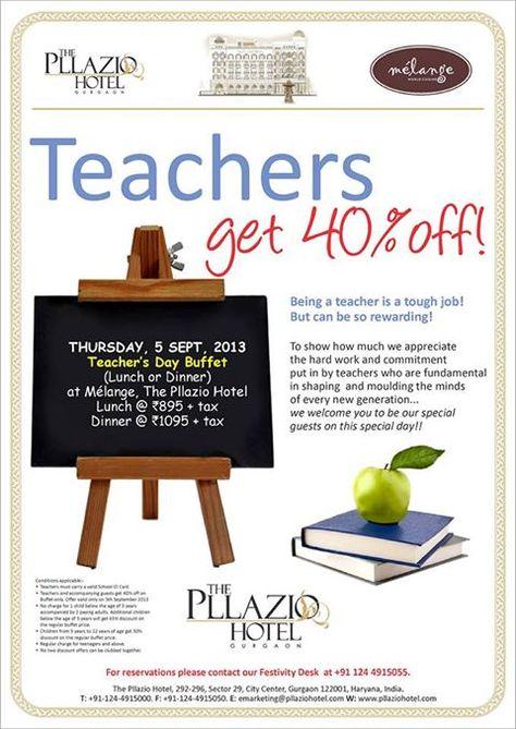 Celebrate Teacher's Day with us at The Pllazio Hotel, Gurgaon!!!