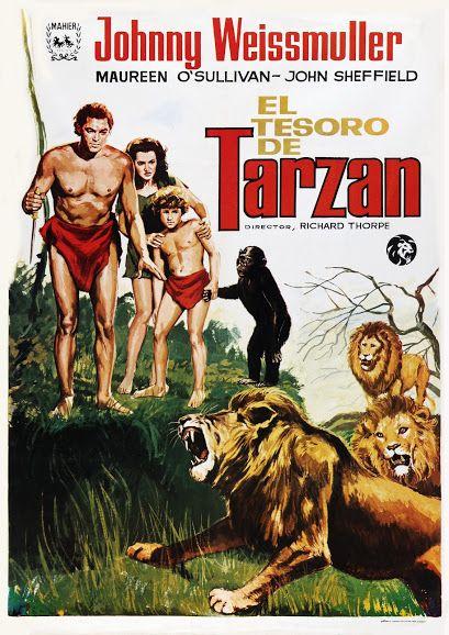 El Tesoro De Tarzán Tarzán Tarzan Pelicula Películas Antiguas