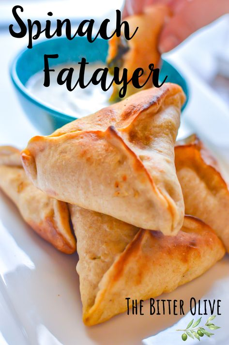 traditional middle eastern fatayer, the tastiest possible way to add spinach to your meals! Lebanese Recipes, Indian Food Recipes, Lebanese Spinach Pies Recipe, Spinach Fatayer Recipe, Lebanese Cuisine, Croatian Recipes, Hungarian Recipes, Arabic Food, Arabic Dessert