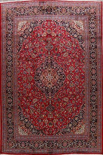Kashmar Persian Floral Vintage Area Rug Wool Red Hand Knotted Traditional Oriental Carpet 10x13 9 8 X 13 2 In 2020 Vintage Area Rugs Wool Area Rugs Wool Rug