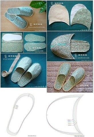 Crochet slippers, patterns and explanations to create them - Donnac . - Crochet slippers, patterns and explanations to create them – . Sewing Slippers, Felted Slippers, Crochet Slippers, Crochet Shoes, Sewing Projects For Beginners, Sewing Tutorials, Sewing Crafts, Fabric Crafts, Shoe Pattern