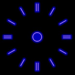 Blue Neon Clock Personalized Wall Clock Custom Wall Clocks Neon Clock