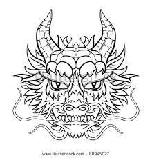 Tattoo Chinese Dragon Head Drawing