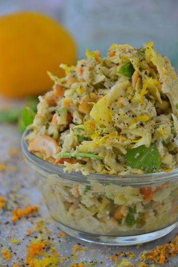 Simple Cashew Detox Salad #glutenfree #detox #cleaneating
