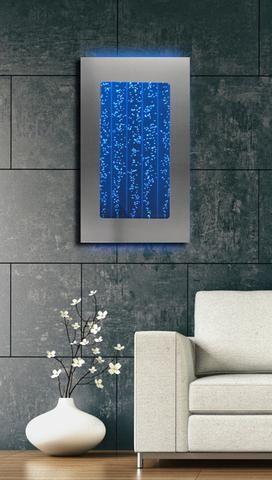 300wm 30 Wall Mount Bubble Wall Led Indoor Fountain Water Feature Indoor Water Features Indoor Water Fountains Wall Aquarium