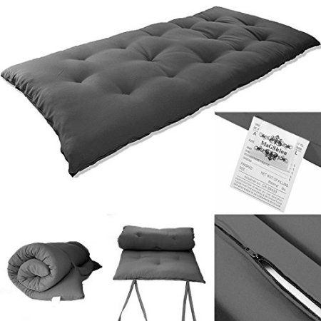 Blue Budget Single Futon Sofabed Replacement Roll Up Folding Sleeping Mattress