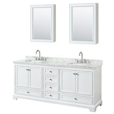 Wyndham Collection Deborah 80 Double Bathroom Vanity Set With