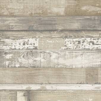 Chronister Coastal Weathered Plank 16 5 L X 20 5 W Wood And Shiplap Peel And Stick Wallpaper Roll Revie In 2020 Wood Wallpaper Wallpaper Panels Farmhouse Wallpaper